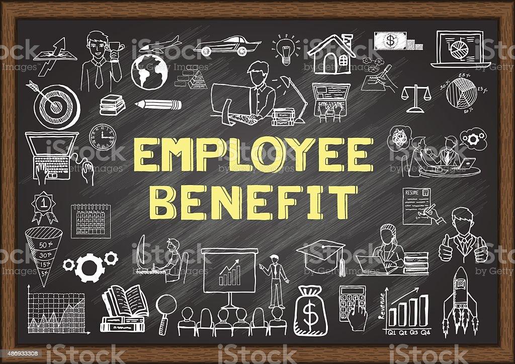 Benefícios para funcionários - ilustração de arte em vetor