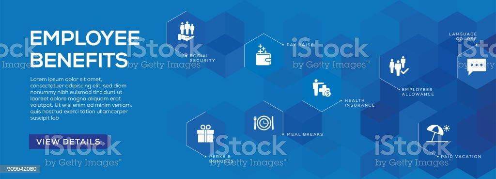 Design de Banner de benefícios dos empregados - ilustração de arte em vetor