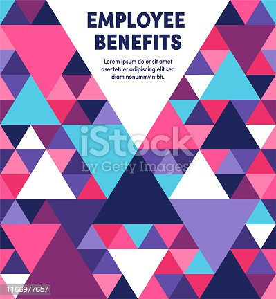 istock Employee Benefits Modern & Geometric Vector Illustration 1166977657