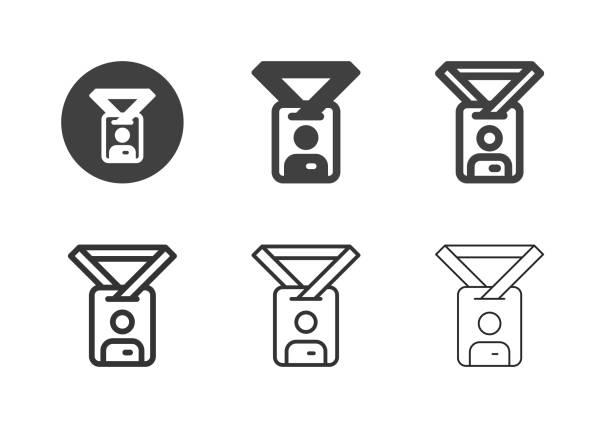 Employee Card Icons - Multi Series vector art illustration
