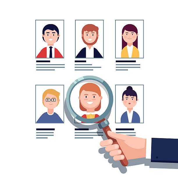 Employee hiring research concept vector art illustration