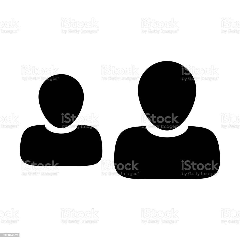 Employee Icon Vector Male Group Of Persons Symbol Avatar For