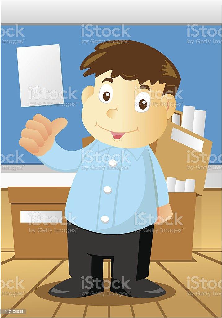 Employee in Office royalty-free stock vector art