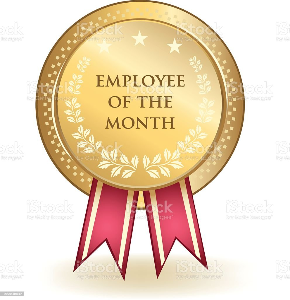 employee of the month award stock vector art more images of award