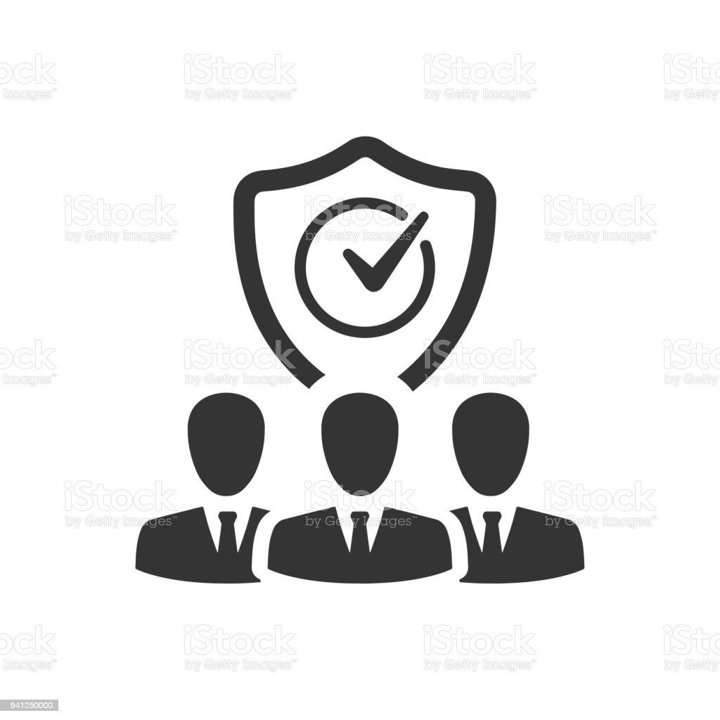Icône de Protection employé - Illustration vectorielle