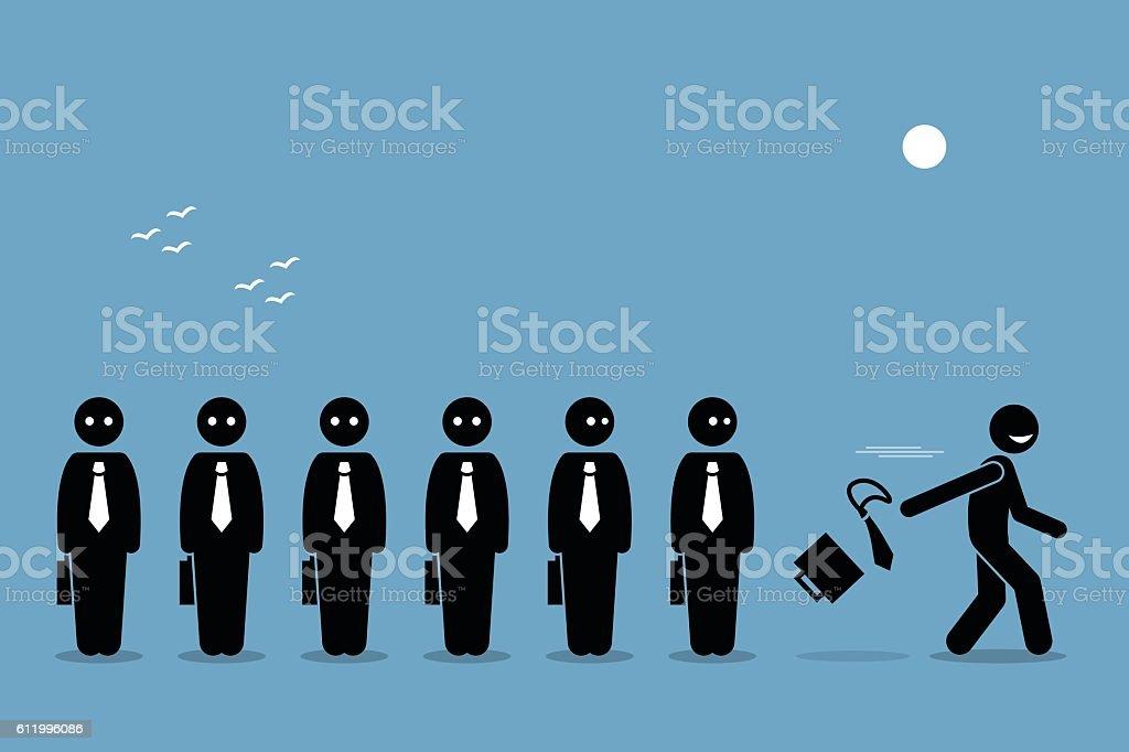 Employee Quiting Job vector art illustration