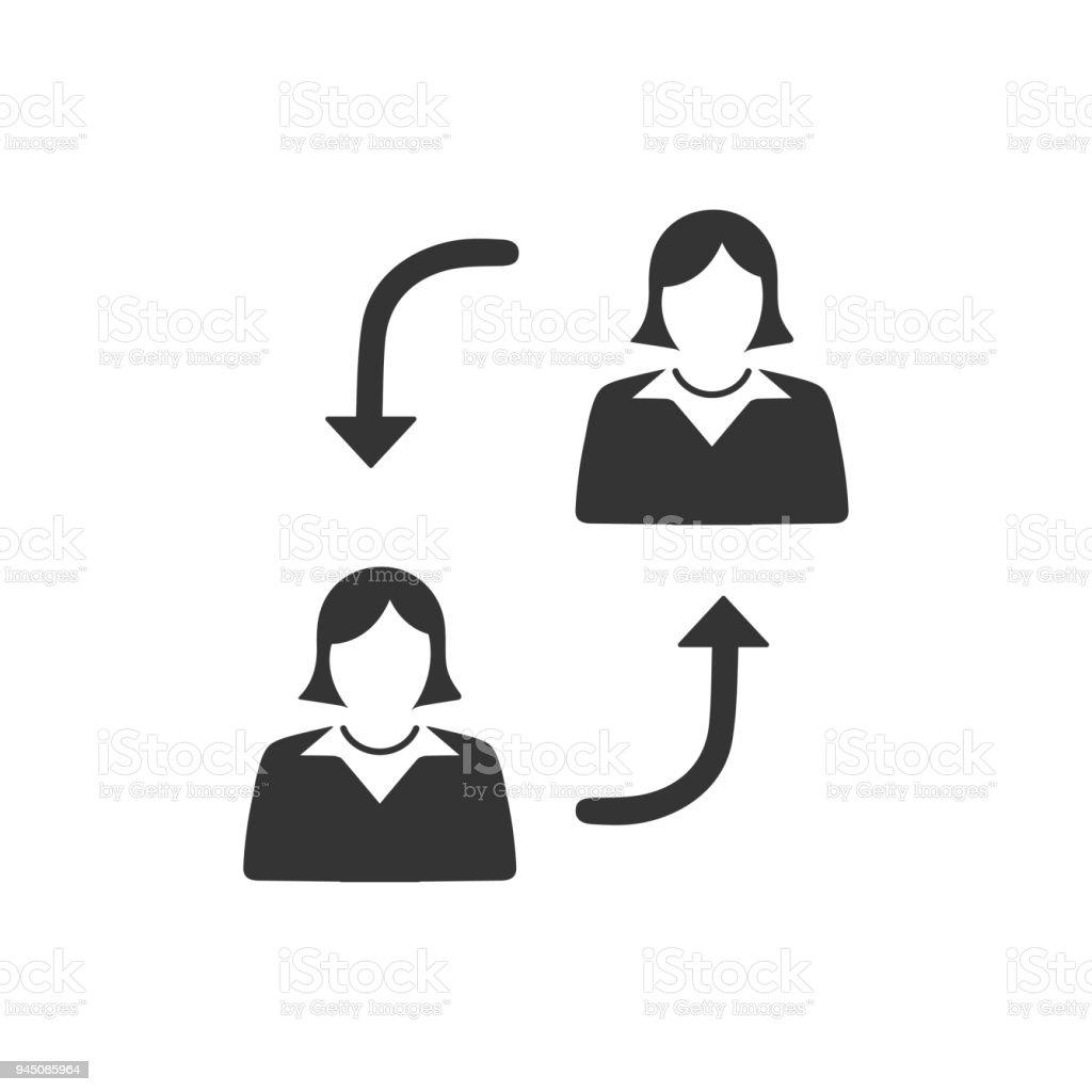 Mitarbeiter Schalter Symbol Stock Vektor Art und mehr Bilder von ...