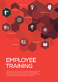 Employee Training. Brochure Template Layout, Cover Design