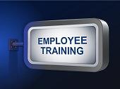 employee training words on billboard