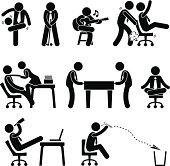 Employee Worker Office Fun Pictogram