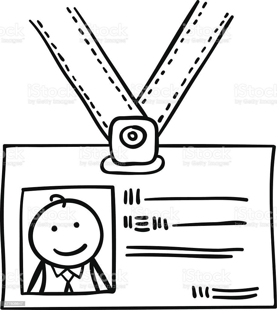 Employee's card royalty-free stock vector art