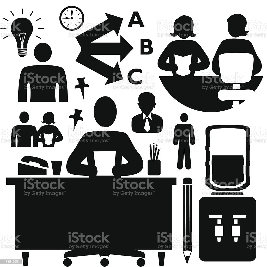 employees royalty-free stock vector art