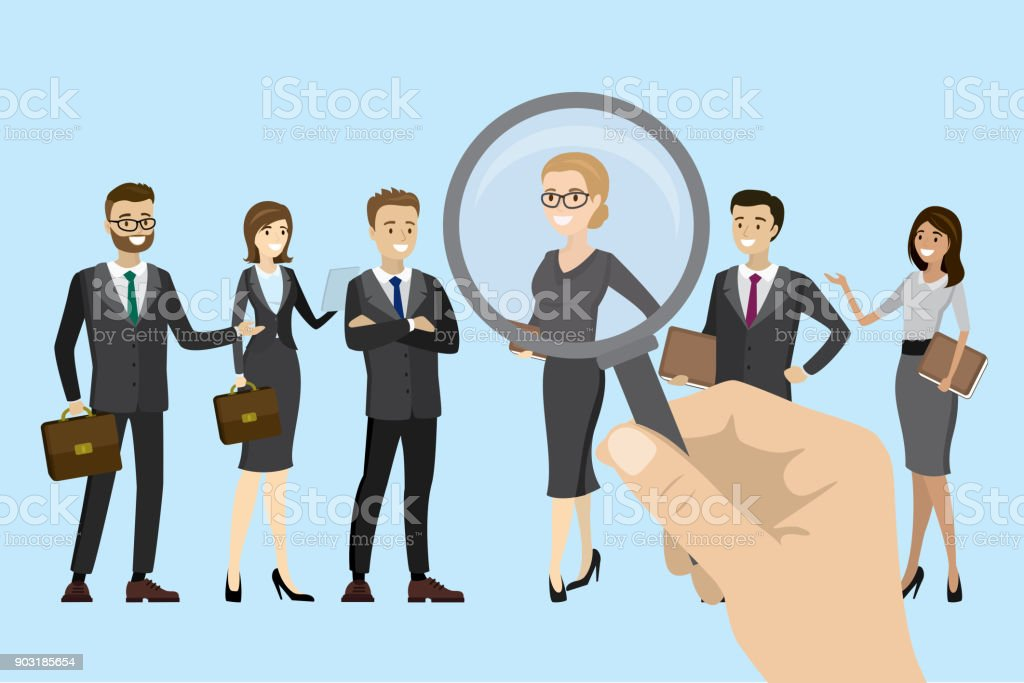 Employer of choice, candidate selection vector art illustration