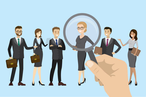 Employer of choice, candidate selection Employer of choice, candidate selection, employees group management business recruitment concept, vector cartoon illustration. candidate stock illustrations