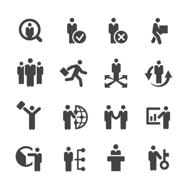 employment icons - acme series - unemployment stock illustrations