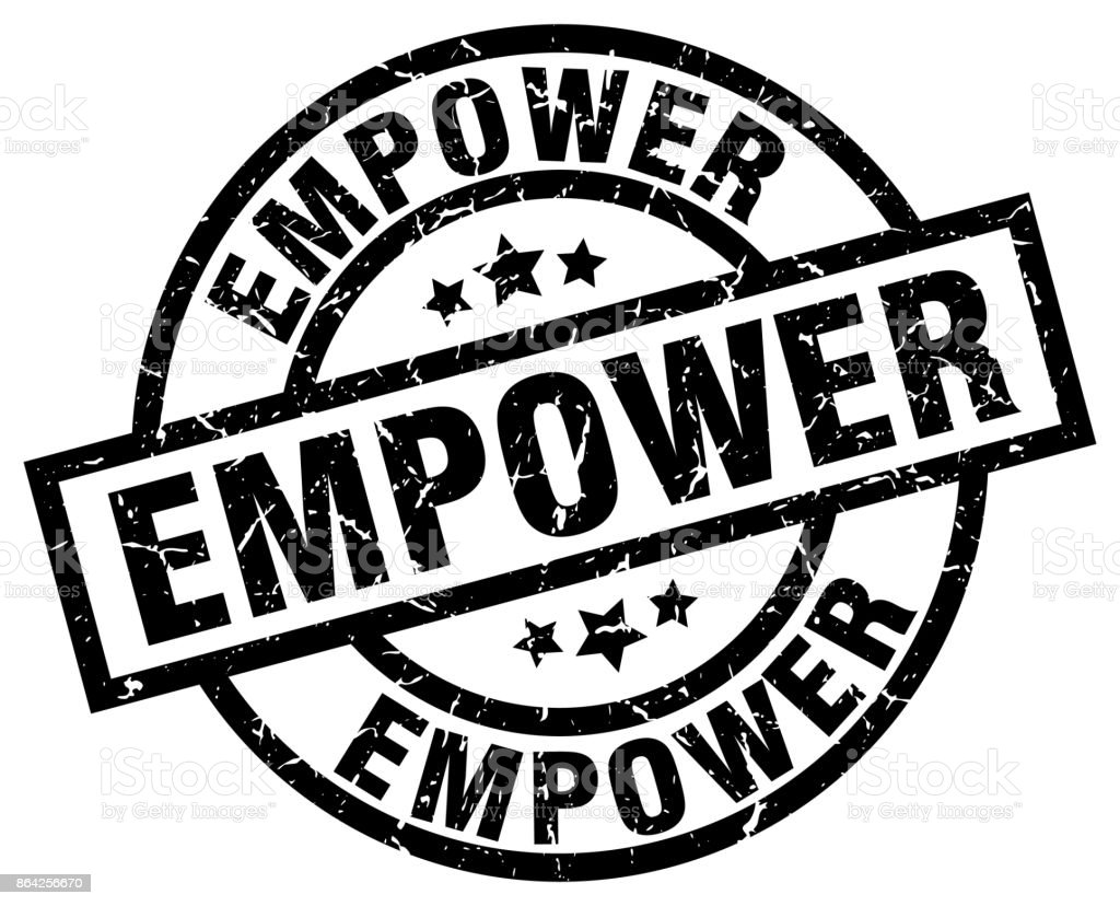 empower round grunge black stamp royalty-free empower round grunge black stamp stock vector art & more images of badge