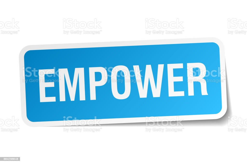 empower square sticker on white royalty-free empower square sticker on white stock vector art & more images of badge
