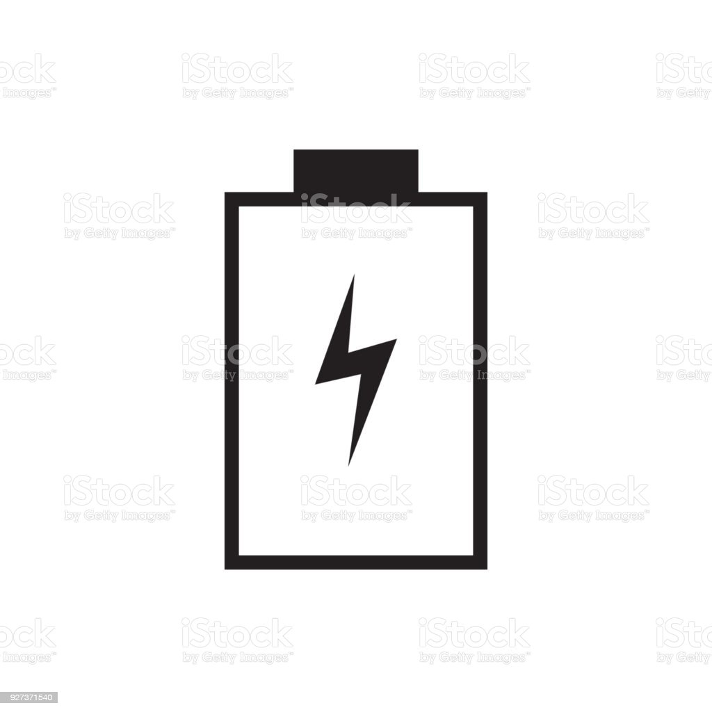 Empty battery charge icon vector illustration. Free royalty images. A battery charger, or recharger, is a device used to put energy into a secondary cell or rechargeable battery by forcing an electric current through it. Alkaline stock vector
