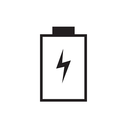 Empty Battery Charge Icon Vector Illustration Free Royalty Images Stock Illustration - Download Image Now