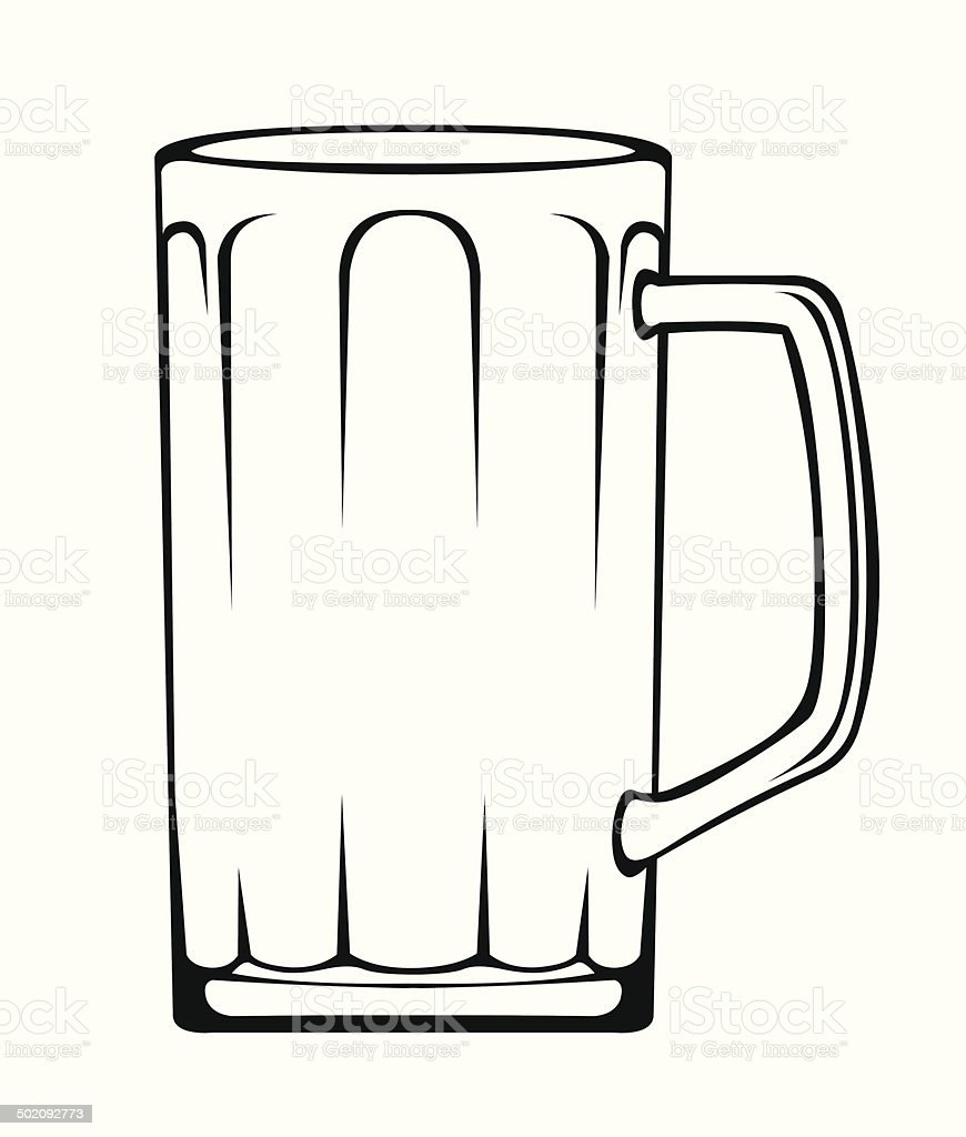 Leere Bierkrug – Vektorgrafik