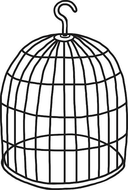 illustrations, cliparts, dessins animés et icônes de cage d'oiseau vide - dessin cage a oiseaux