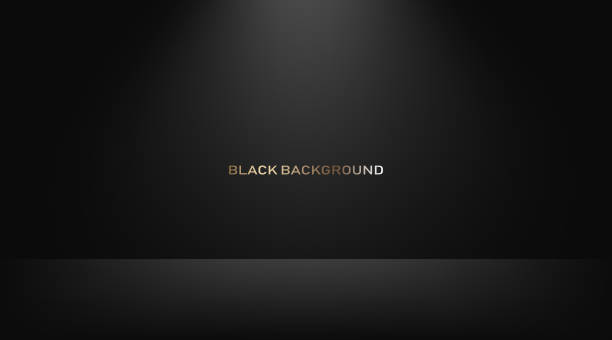 illustrazioni stock, clip art, cartoni animati e icone di tendenza di empty black studio room, used as background for display your products. vector - turno sportivo