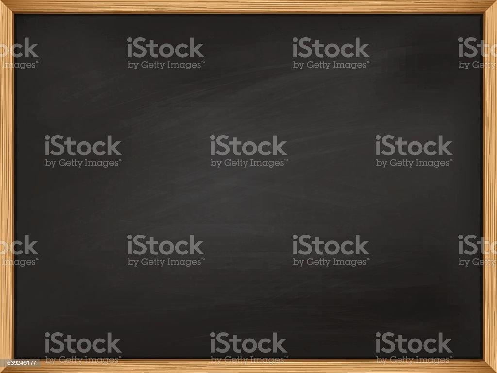 Leere Tafel Mit Holzrahmen Vorlage Stock Vektor Art und mehr Bilder ...