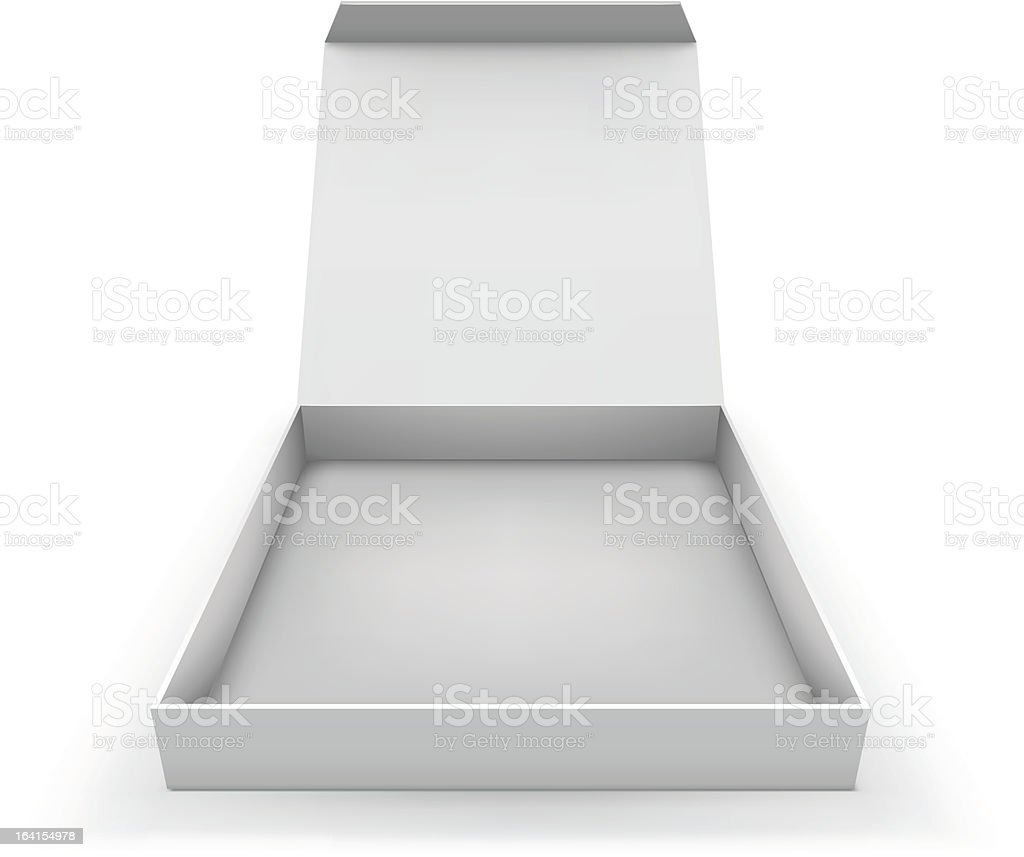 Empty blank flat box vector art illustration