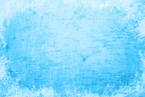 Empty blank light sky blue gradient coloured grunge textured blotched and smudged vector backgrounds like an oil painting