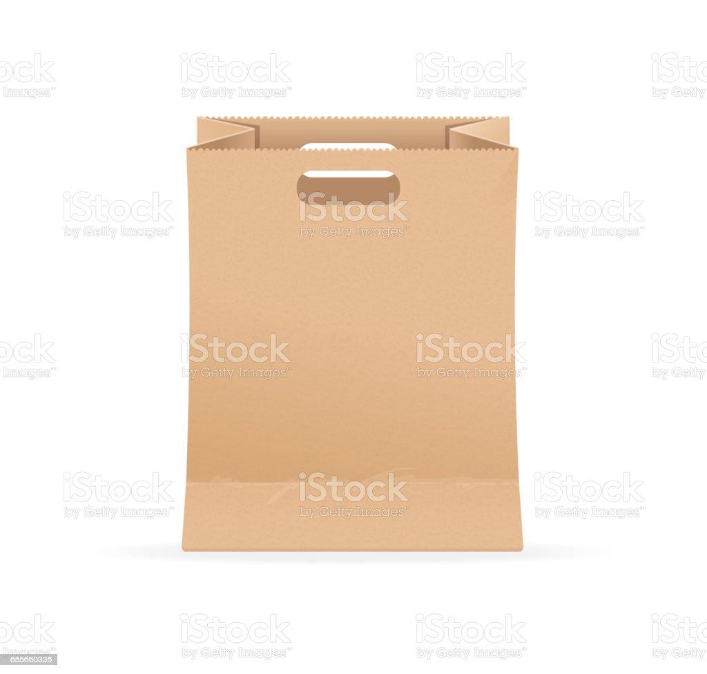 Leer Leere Vorlage Papier Tasche Verkauf Vektor Stock Vektor Art und ...