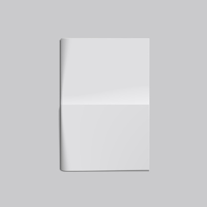 Empty Blank White Folded Newspaper Front Page