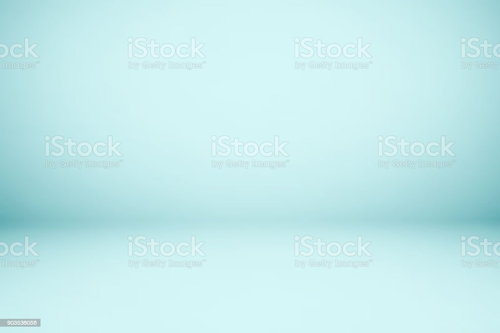 Empty blue studio room, used as background for display your products vector art illustration