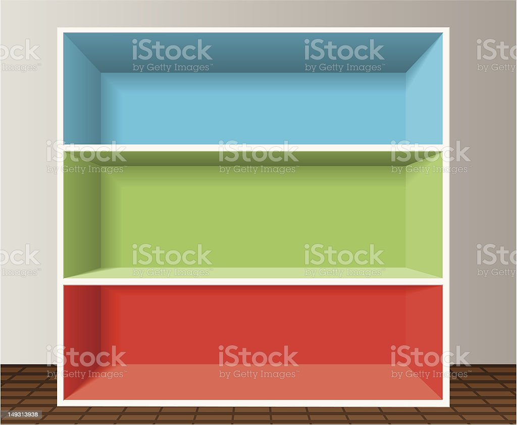 empty bookshelf royalty-free stock vector art