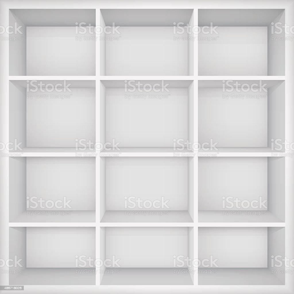 Empty bookshelf.  Vector Illustration vector art illustration