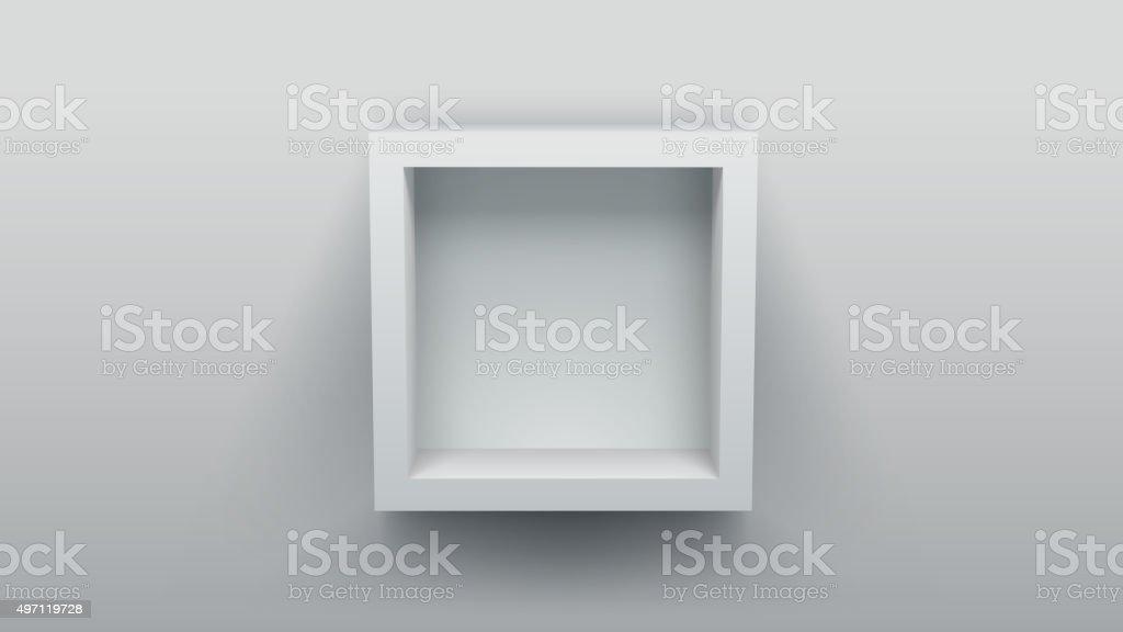 Caixa vazia prateleira - ilustração de arte em vetor