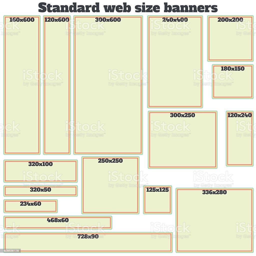 empty box standard size web banners set  royalty-free empty box standard  size web