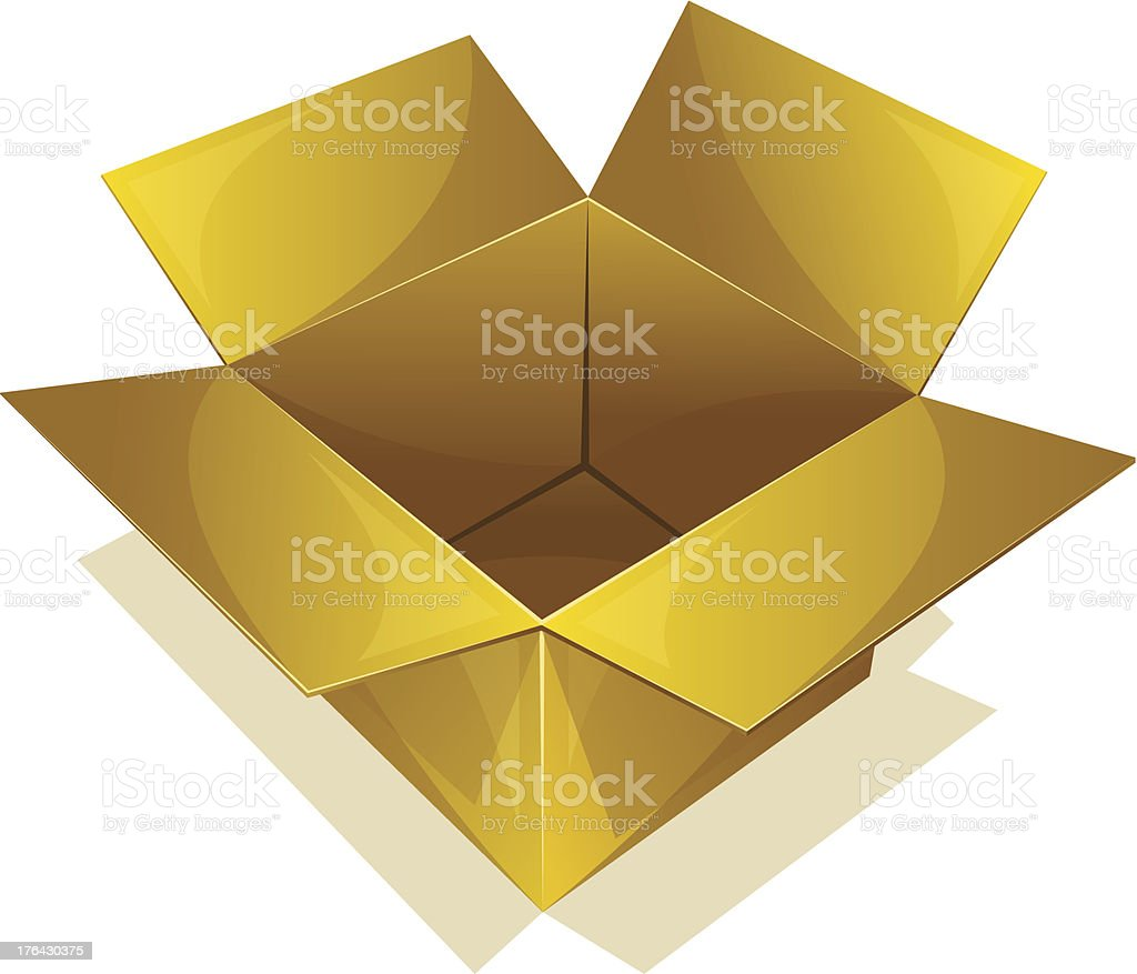 Empty box royalty-free empty box stock vector art & more images of blank