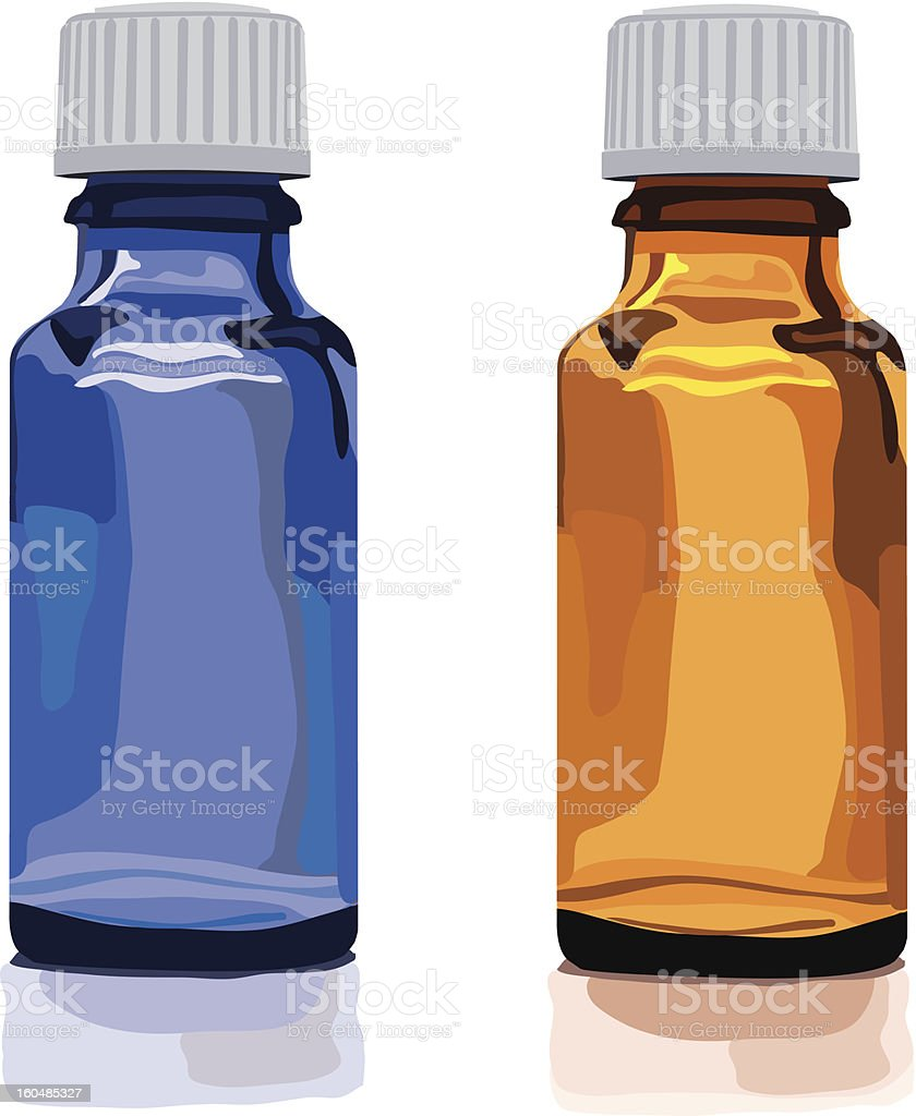 empty brown glass bottles royalty-free stock vector art