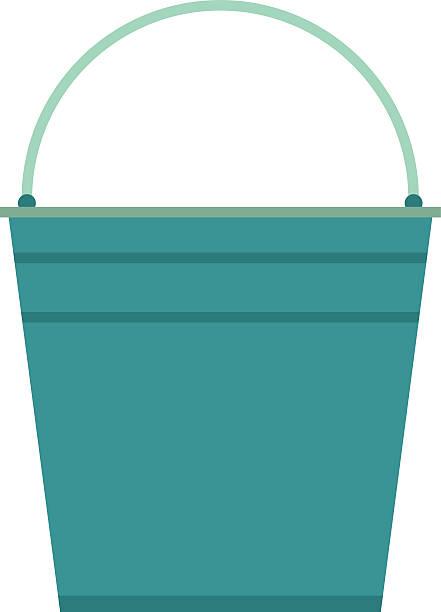 Empty bucket vector illustration icon vector art illustration
