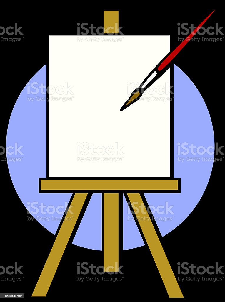 empty canvas and brush royalty-free stock vector art