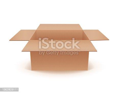 istock Empty Cardboard Box 1302825111