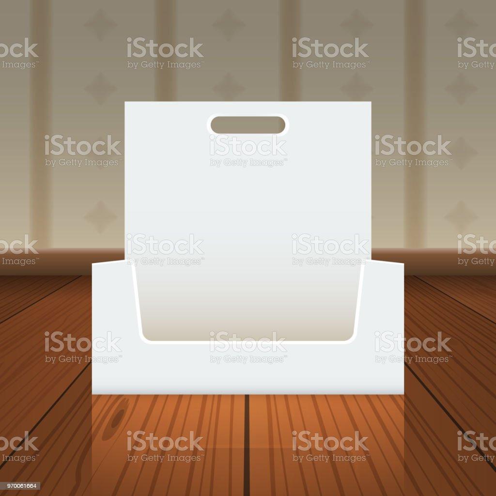 Carton Ou Visite Carte Affichage Boite Vide Avec Trou Pour Raccrocher Maquette Point De Vue