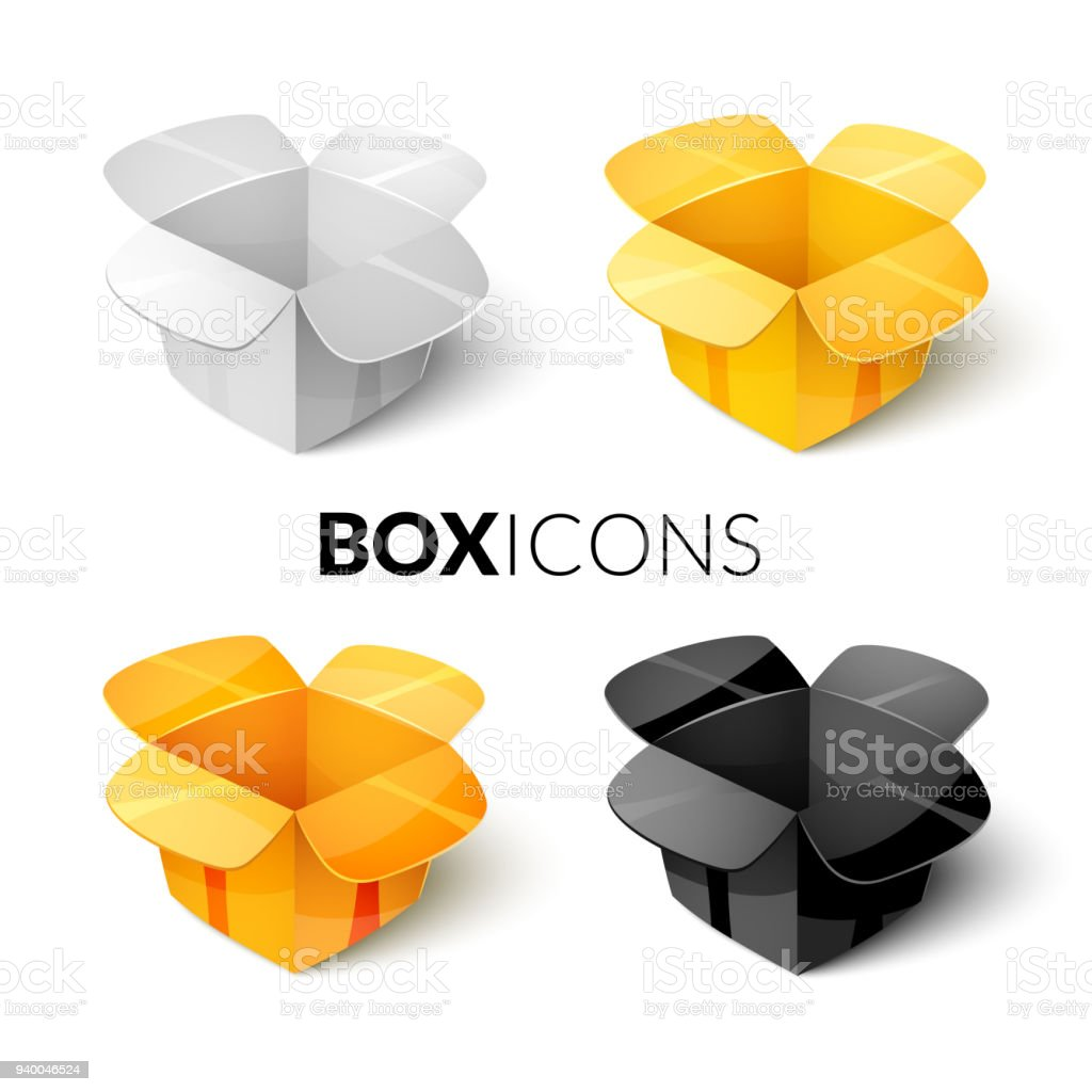 Empty cardboard packaging open box icon in cartoon style stock empty cardboard packaging open box icon in cartoon style royalty free empty cardboard packaging ccuart