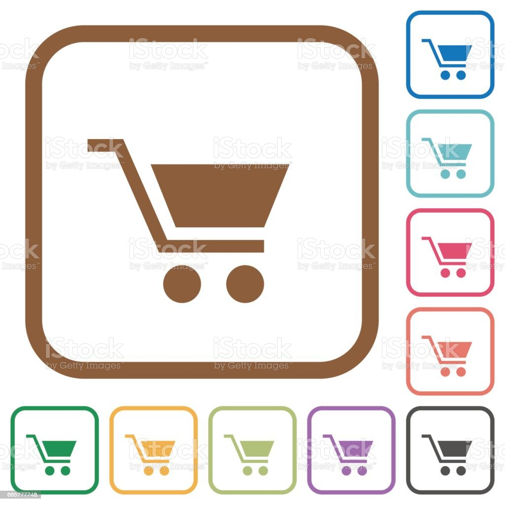 Empty cart simple icons royalty-free empty cart simple icons stock vector art & more images of basket