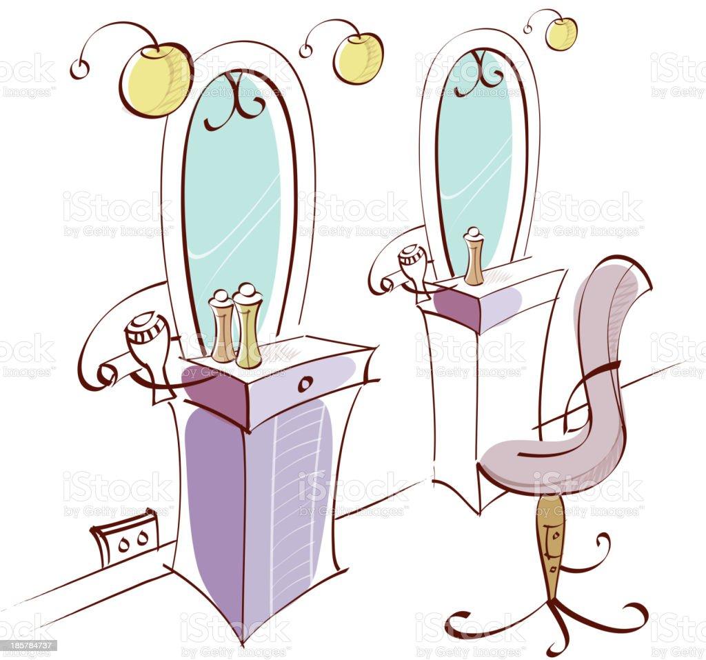 Leeren Stuhl Im Barber Shop Vektor Illustration 185784737 Istock