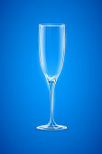 illustration of transparent empty Champagne Glass