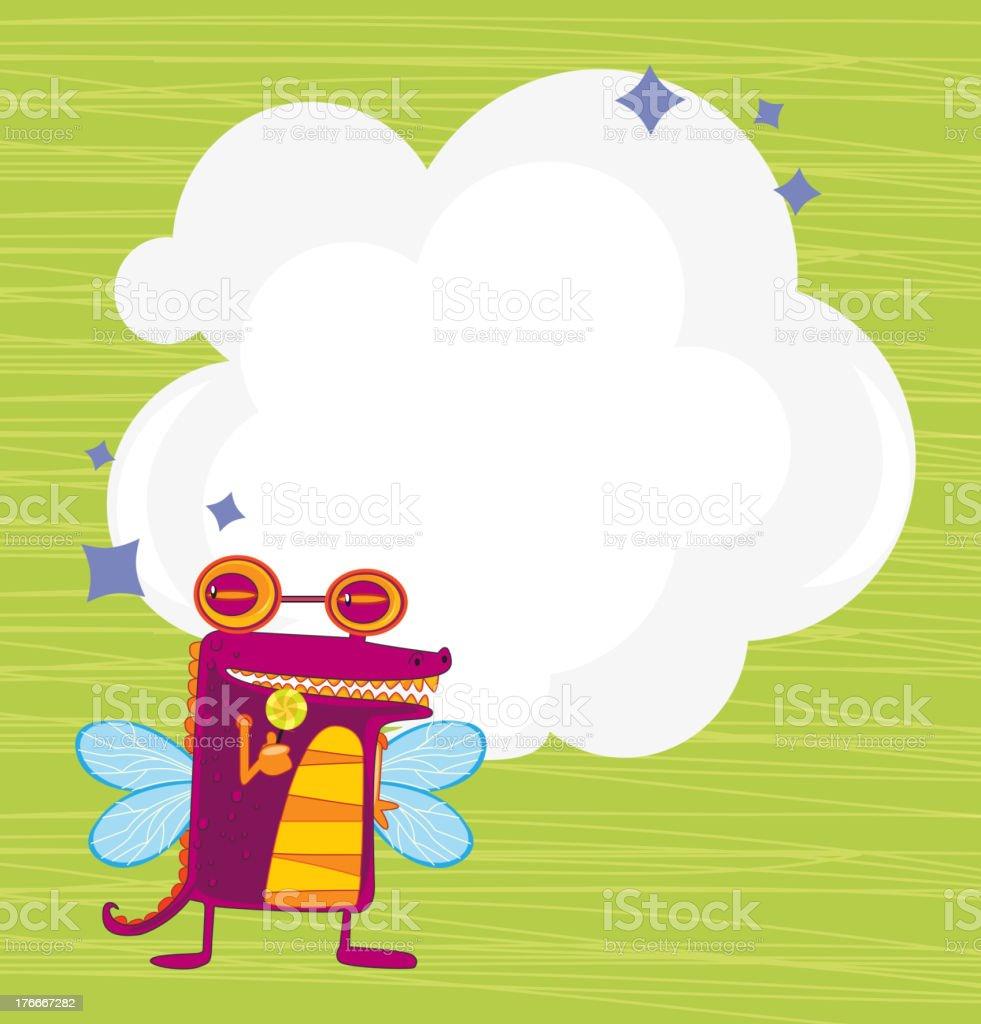 Vacío cloud plantilla de un robot con alas ilustración de vacío cloud plantilla de un robot con alas y más banco de imágenes de amarillo - color libre de derechos