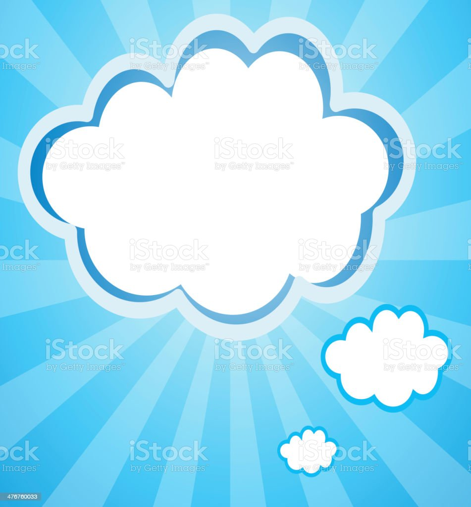 Empty cloud templates royalty-free empty cloud templates stock vector art & more images of advertisement