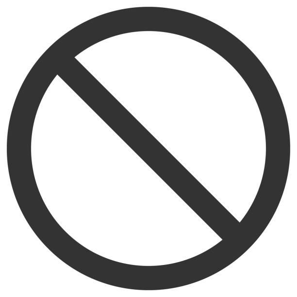 keine spur. leere durchgestrichen, schwarzen kreis. vektor icon - ausstoßen stock-grafiken, -clipart, -cartoons und -symbole