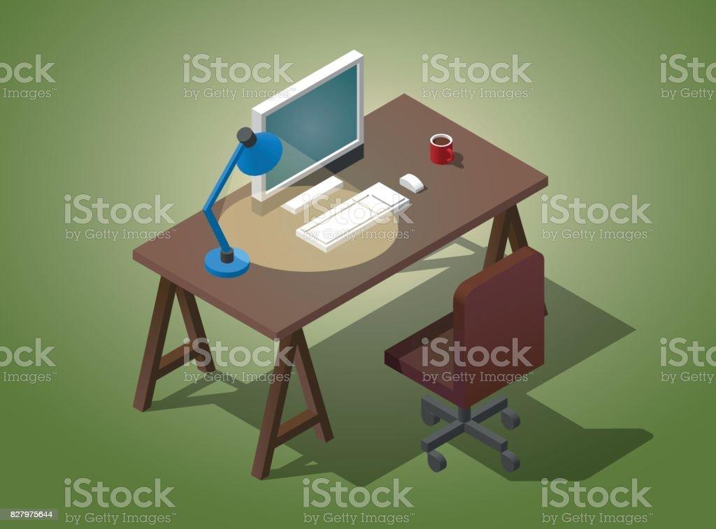 Bureau vide pour homme daffaires illustration vectorielle